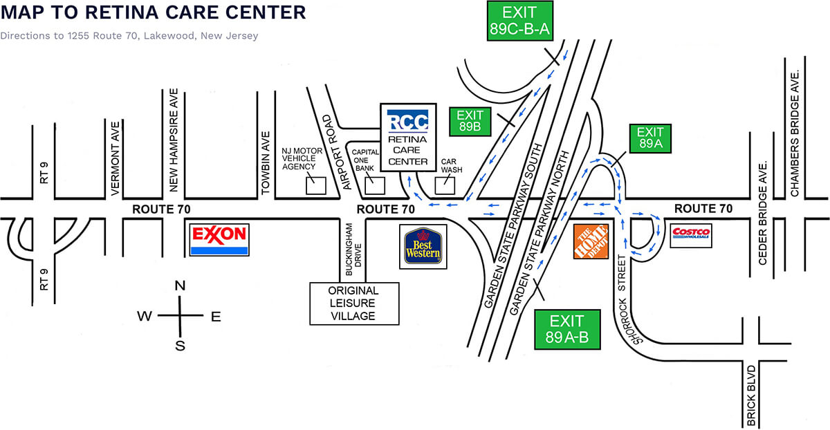 Map To Retina Care Center