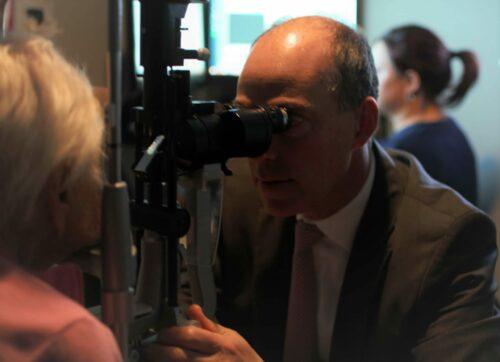 Dr. Barofsky retinal exam