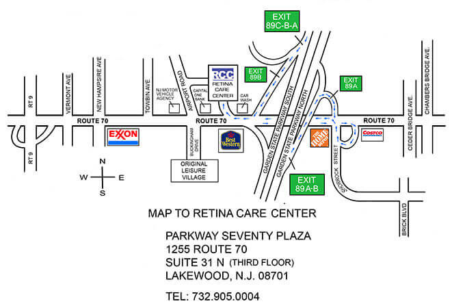 revised map of office location